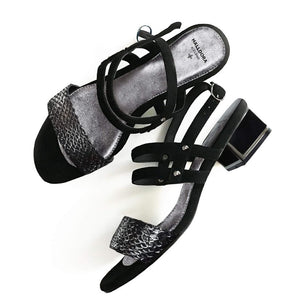 NÝTT/ NEW IN. EVA SVARTIR-SILFUR / BLACK-SILVER
