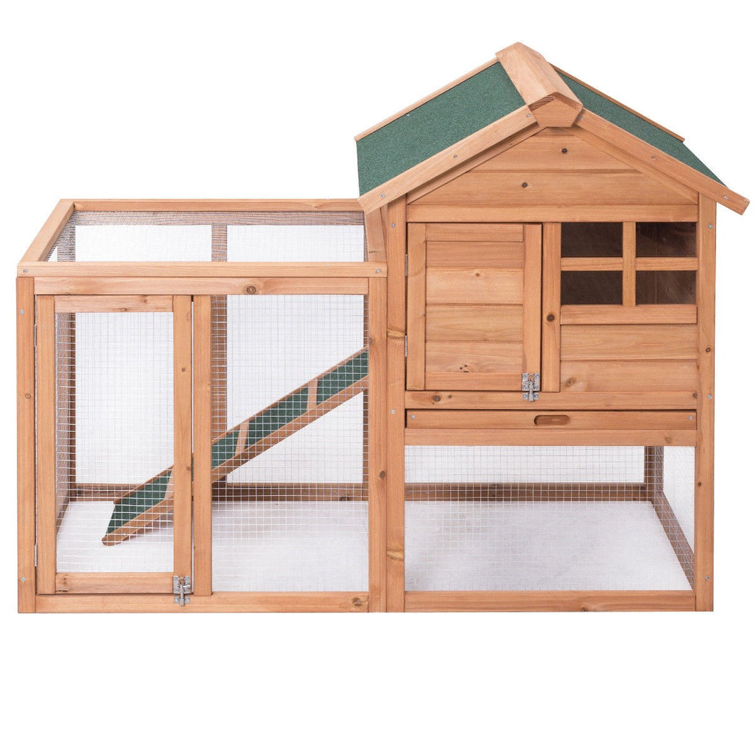 Wooden Rabbit Hutch Chicken Coop - Cheeper Keeper