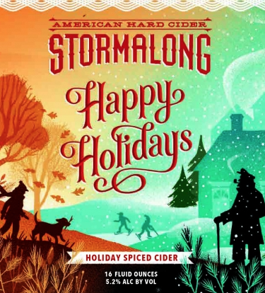 "Stormalong ""Happy Holidays"" Spiced Hard Cider (Leominster, MA)"