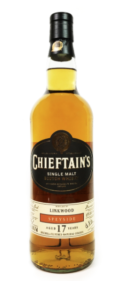 "Chieftain's Collection ""Linkwood"" Speyside 17 Year Single Malt Scotch Whiskey (Highland, Scotland)"""