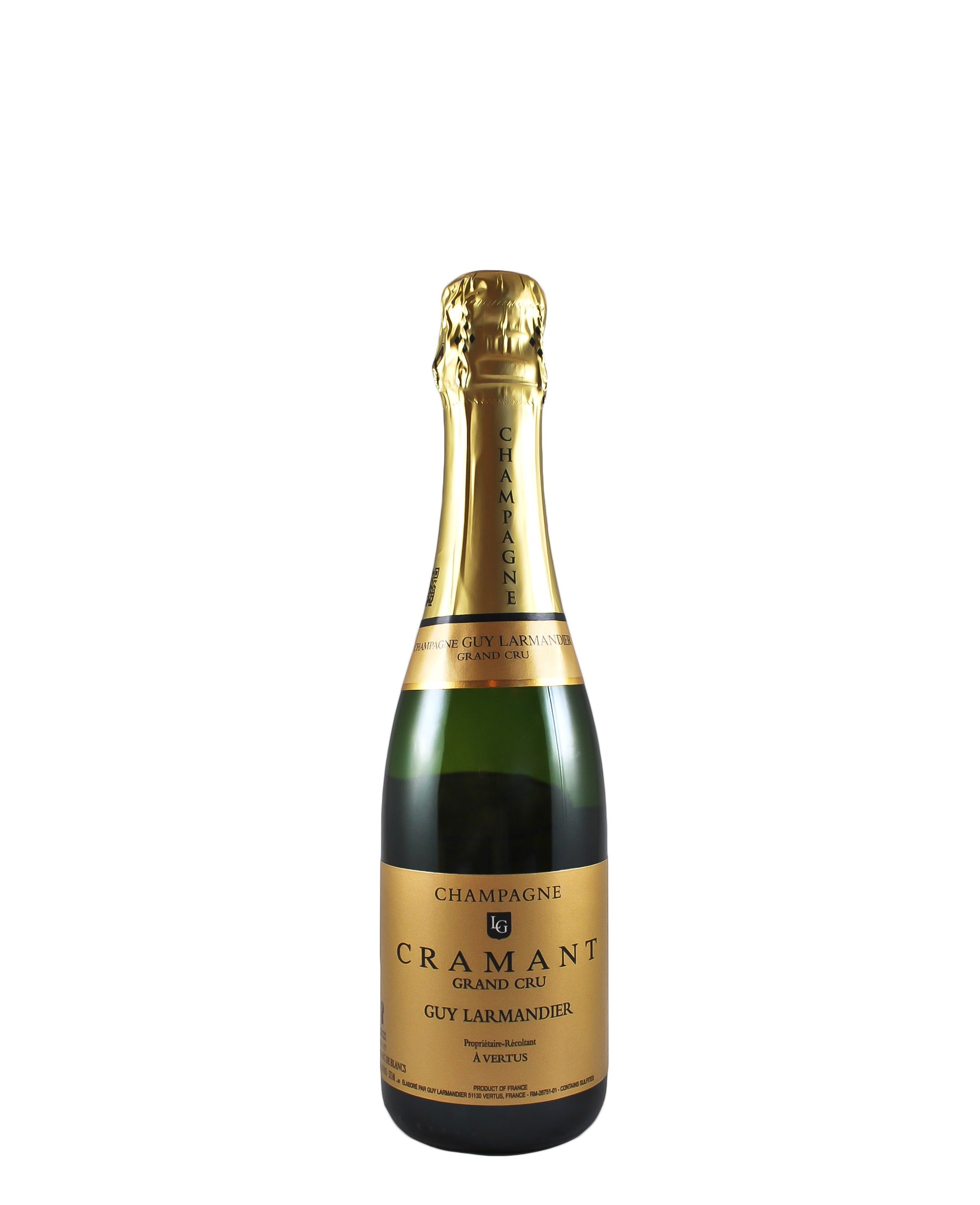 NV Guy Larmandier Cramant Grand Cru Brut Blanc de Blancs 375ml (Champagne, FR)