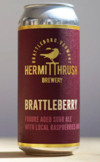 "Hermit Thrush ""Brattlebeer"" Sour Ale with Raspberries and Apples (Vermont)"