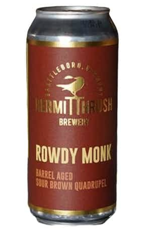 "Hermit Thrush ""Rowdy Monk"" Barrel Aged Sour Brown Quadrupel (Vermont)"