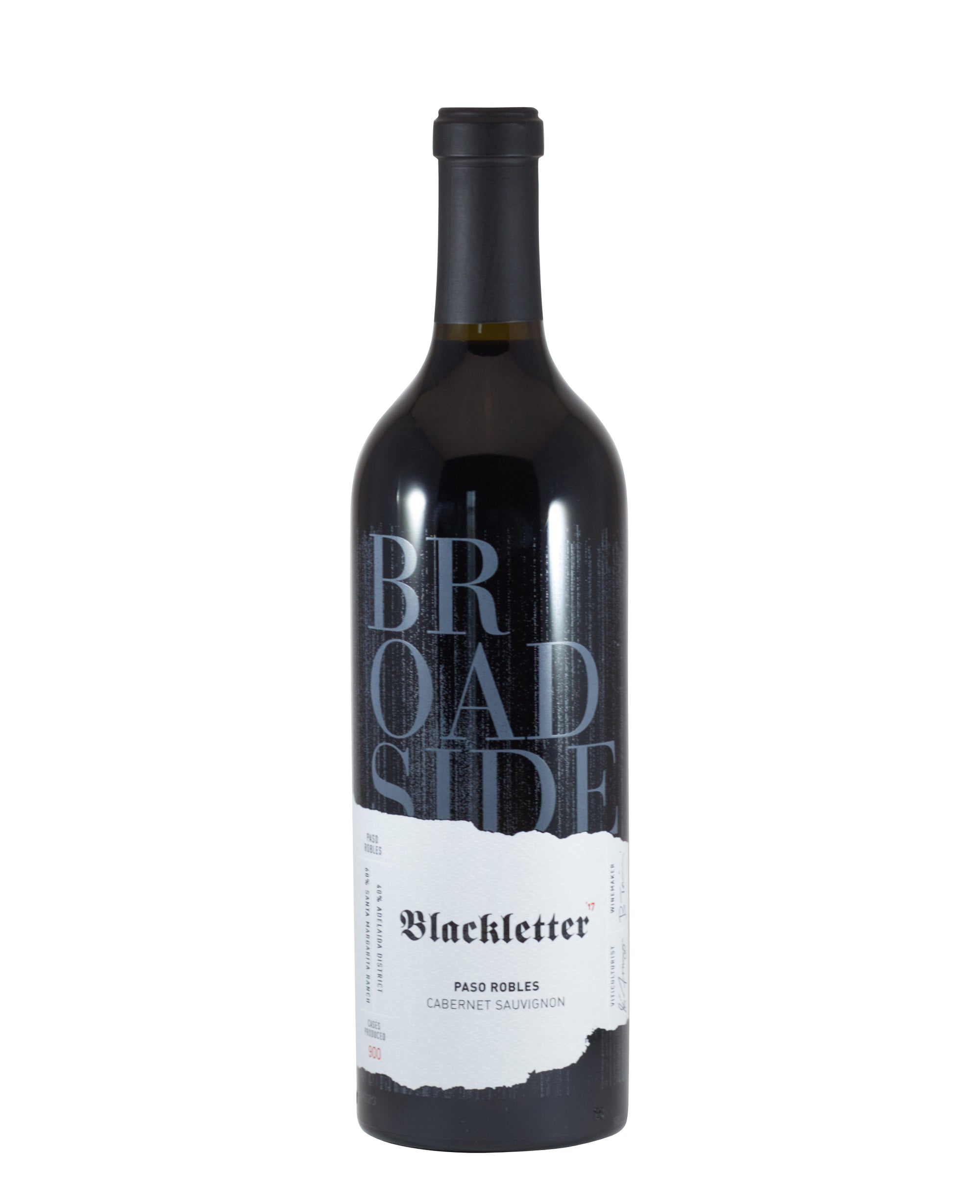 "*9R* Broadside ""Single Vineyard Blackletter"" Cabernet Sauvignon (Paso Robles, CA)"