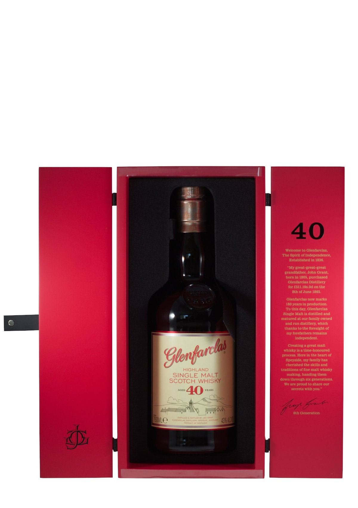 Glenfarclas 40 Year Highland Single Malt Scotch Whiskey (Scotland)