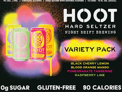 "Night Shift ""Hoot"" Hard Seltzer Variety Pack (Everett, MA)"