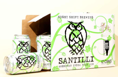 "Night Shift ""Santilli"" American IPA (Everett, MA) 12 Pack"