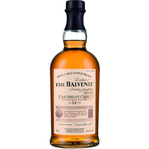 "Balvenie ""Caribbean Rum Cask Aged"" 14 Year Single Malt Scotch (Scotland)"