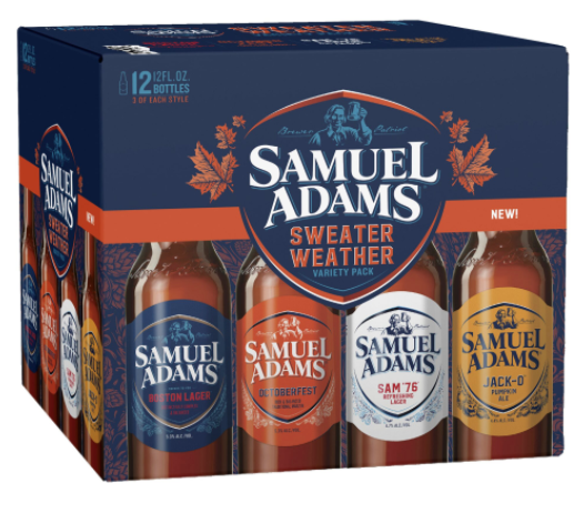 "Samuel Adams ""Sweater Weather"" Fall Variety 12 Pack (Boston, MA)"