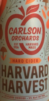 "Carlson Orchards ""Harvard Harvest"" Hard Cider (Harvard, MA)"