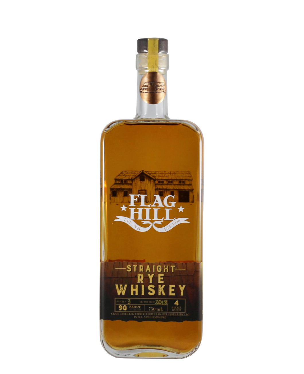 Flag Hill Distillery Straight Rye Whiskey (Lee, NH)