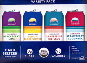 "Peak Brewing Co ""Highball"" Hard Seltzer Variety 12 Pack (Portland, ME)"