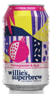 Willie's Superbrew Hard Seltzer w/Pomegranate and Acai (Pawtucket, RI) 6-PACK