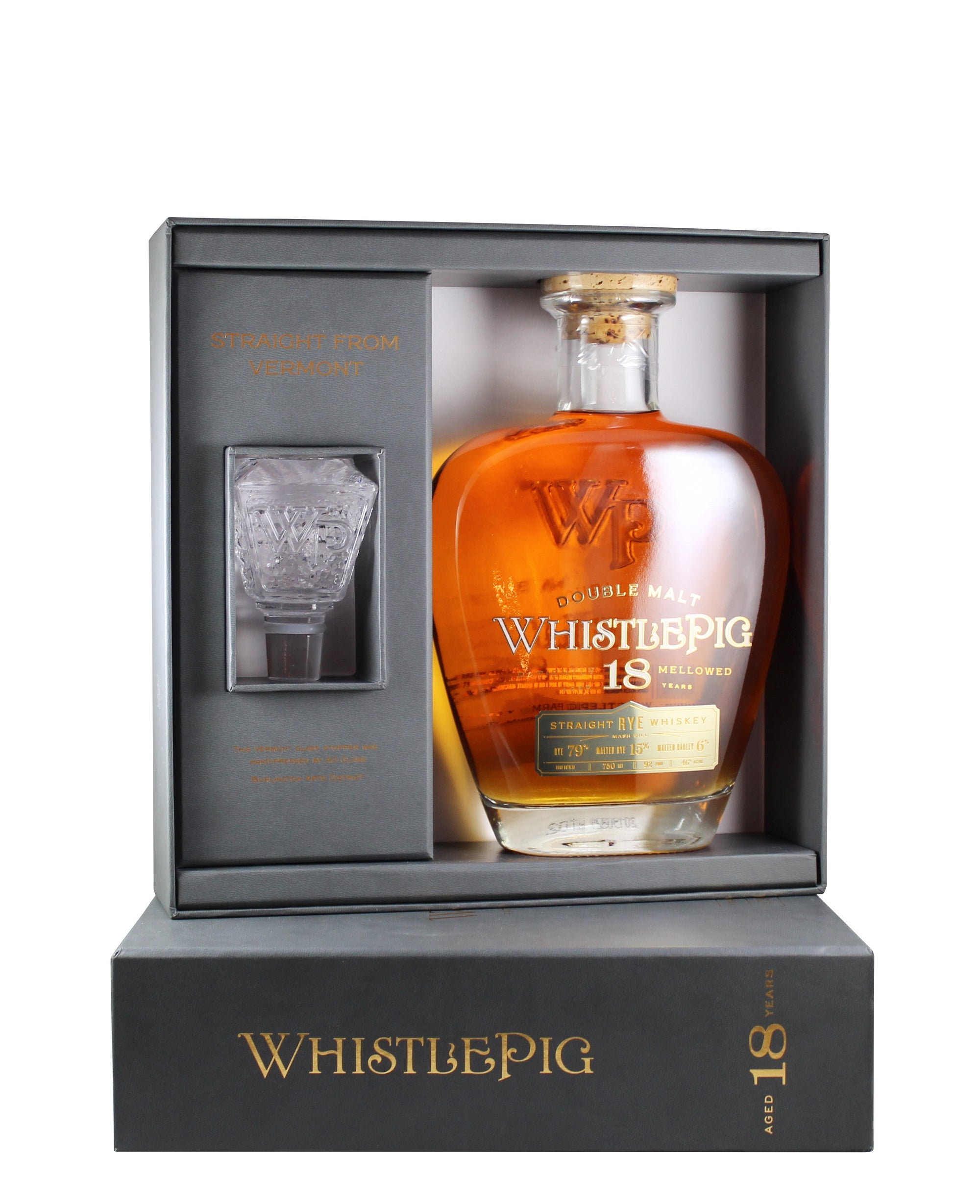 WhistlePig 18 Year Rye Whiskey (Middlebury, Vermont)