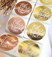 Load image into Gallery viewer, Rose Gold | Gold Foil Eid Mubarak Stickers