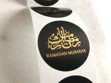 Load image into Gallery viewer, Blush Pink, White, or Black Ramadan Mubarak Stickers
