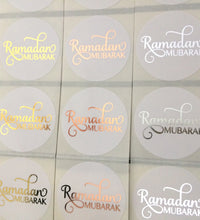 Load image into Gallery viewer, Gold | Silver | Rose Gold Foil Ramadan Mubarak Stickers
