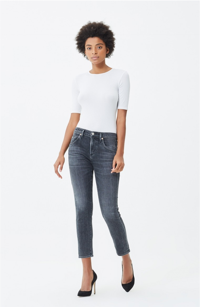 Citizens | Elsa Mid Rise Slim Fit Crop In Wren