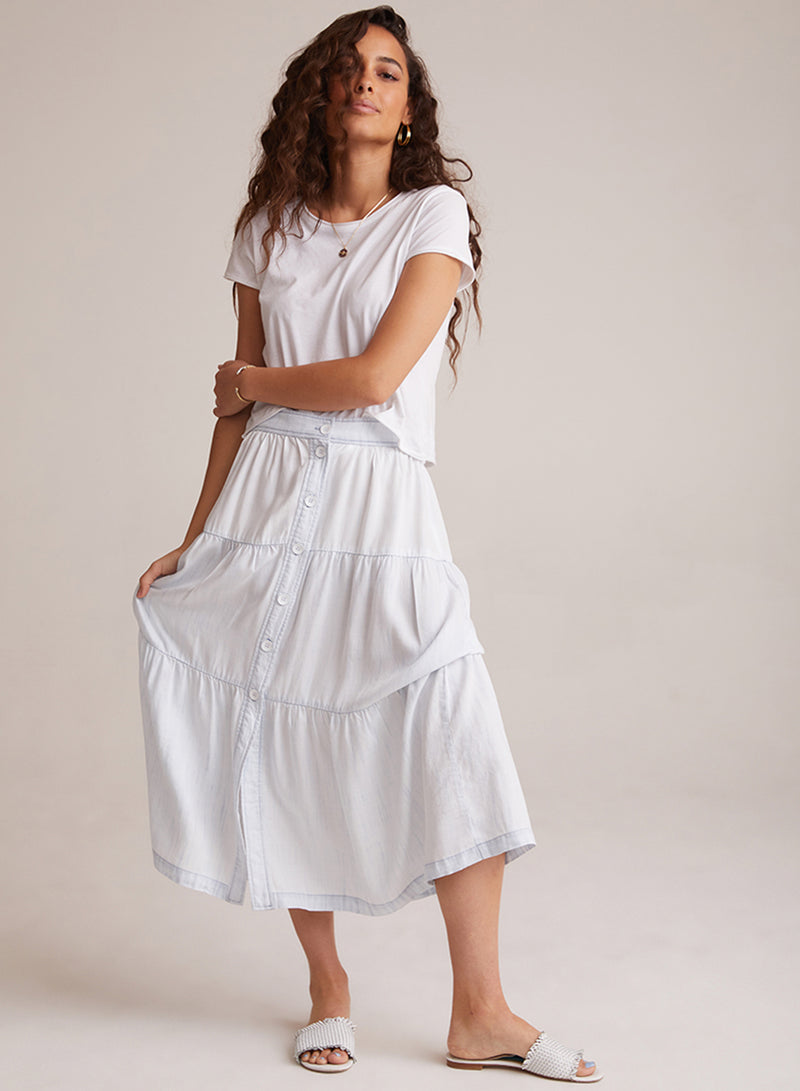 Bella Dahl | BUTTON FRONT TIERED SKIRT