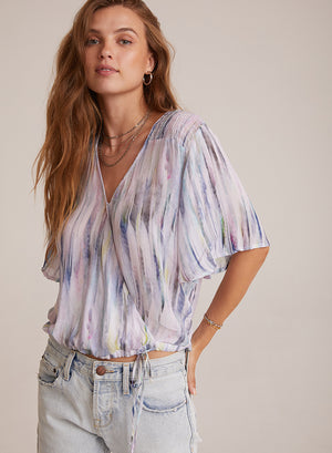 Bella Dahl |  FLUTTER SMOCKED TOP