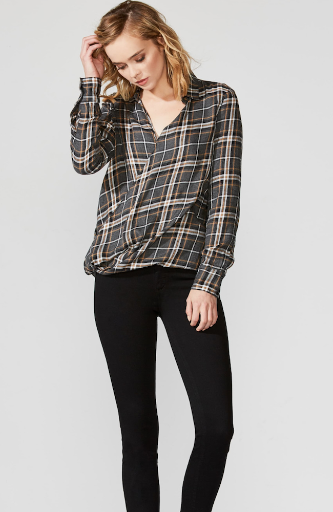 Bailey 44 | Wipe Out Plaid Top