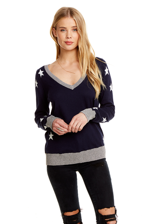 Chaser | Starry Cotton Cashmere Sweater