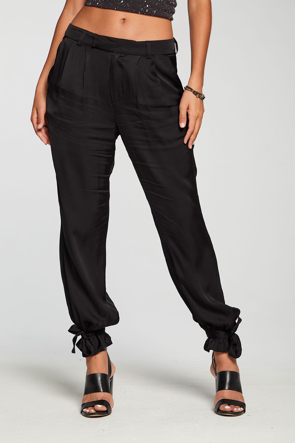 Chaser | SILKY BASICS TAPERED TIE ANKLE PANT