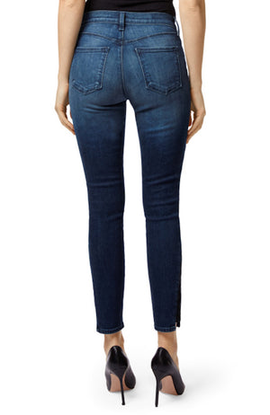 J Brand | Alana High-Rise Cropped Super Skinny In Dark Torrent