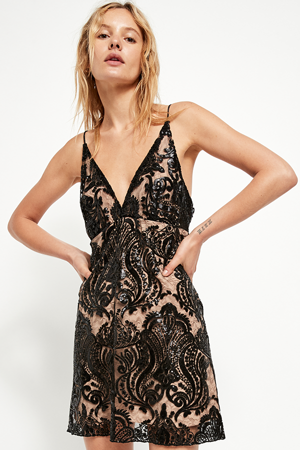 Free People | NIGHT SHIMMERS MINI DRESS