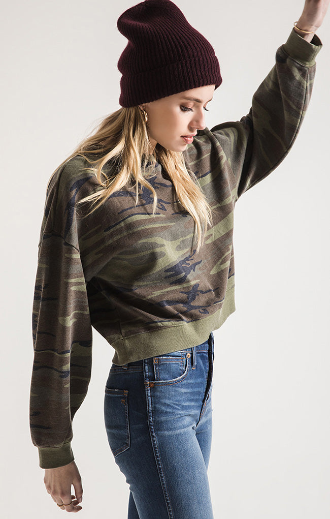 Z Supply | Oversized  Camo Fleece Pullover