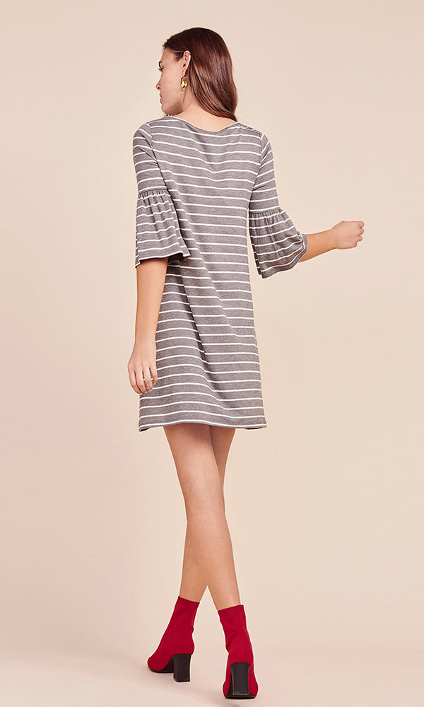 BB Dakota | Shades of Cool Striped Dress