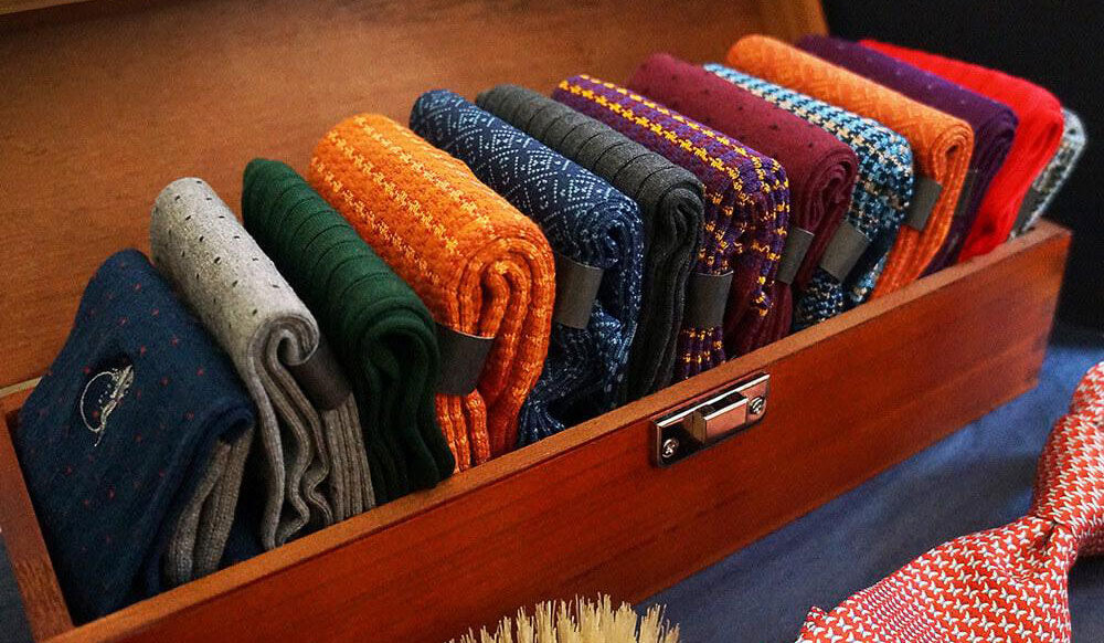 Luxury colourful socks for men
