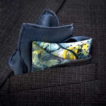 Designer pocket squares - made in England