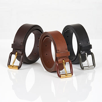Awling leather belts made in the UK