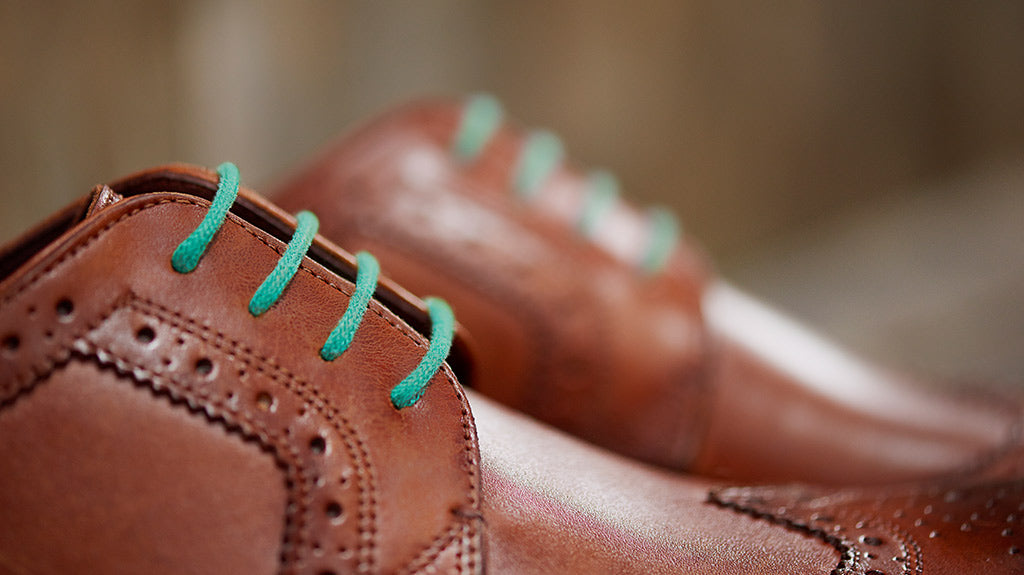 Colourful shoe laces for men
