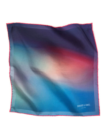 Blue and pink pocket square