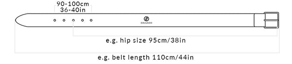 Dalgado | Size guide for classic leather belts