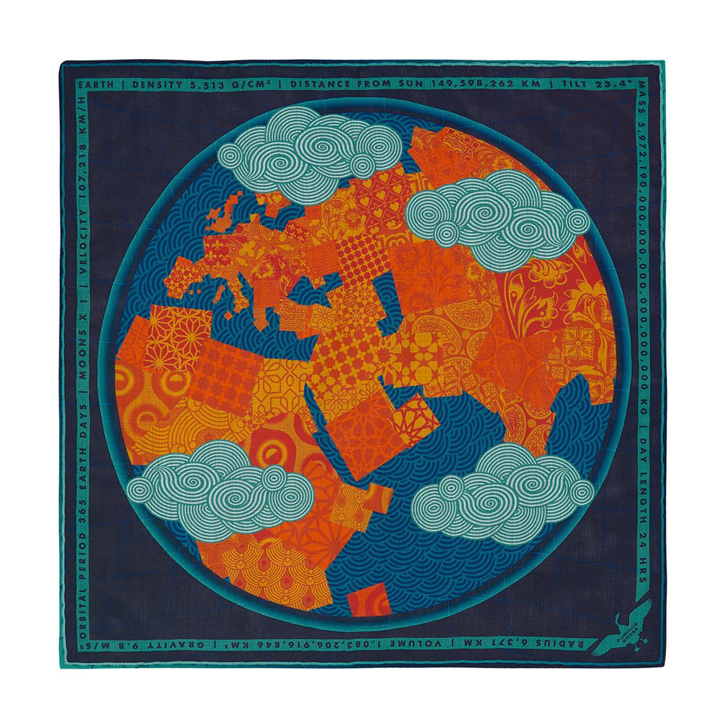 Furious Goose earth pocket square
