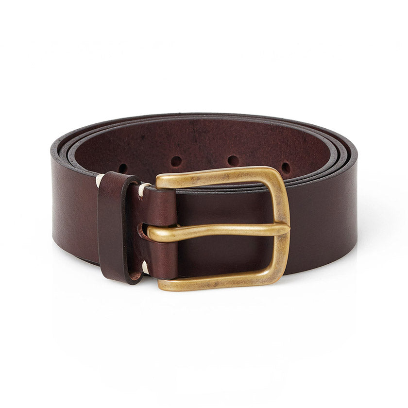 Awling leather belts handmade in England