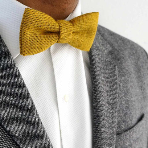 Mustard bow tie | Made in the UK