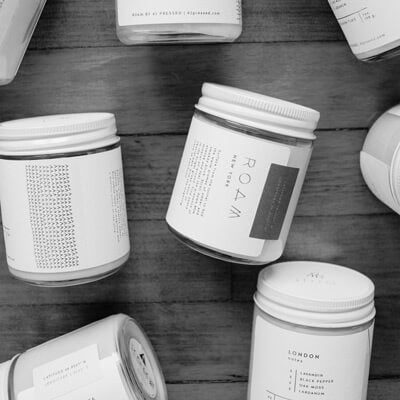 ROAM by 42 Pressed: city-inspired candles