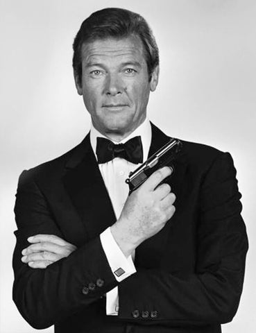 Roger Moore James Bond style icon