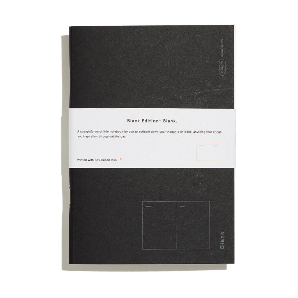 UK riso printing | Blank notebook - black edition