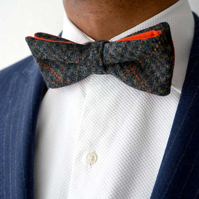 Edinburgh Bow Tie Company Grouse orange pre-tied bow tie