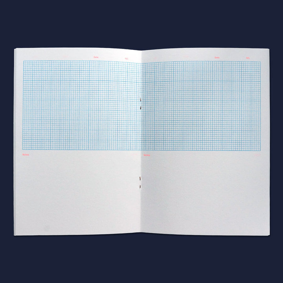 UK riso printing | Graphs notebook - black edition