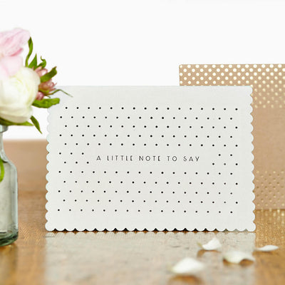 Luxury greeting cards |  Just to Say card