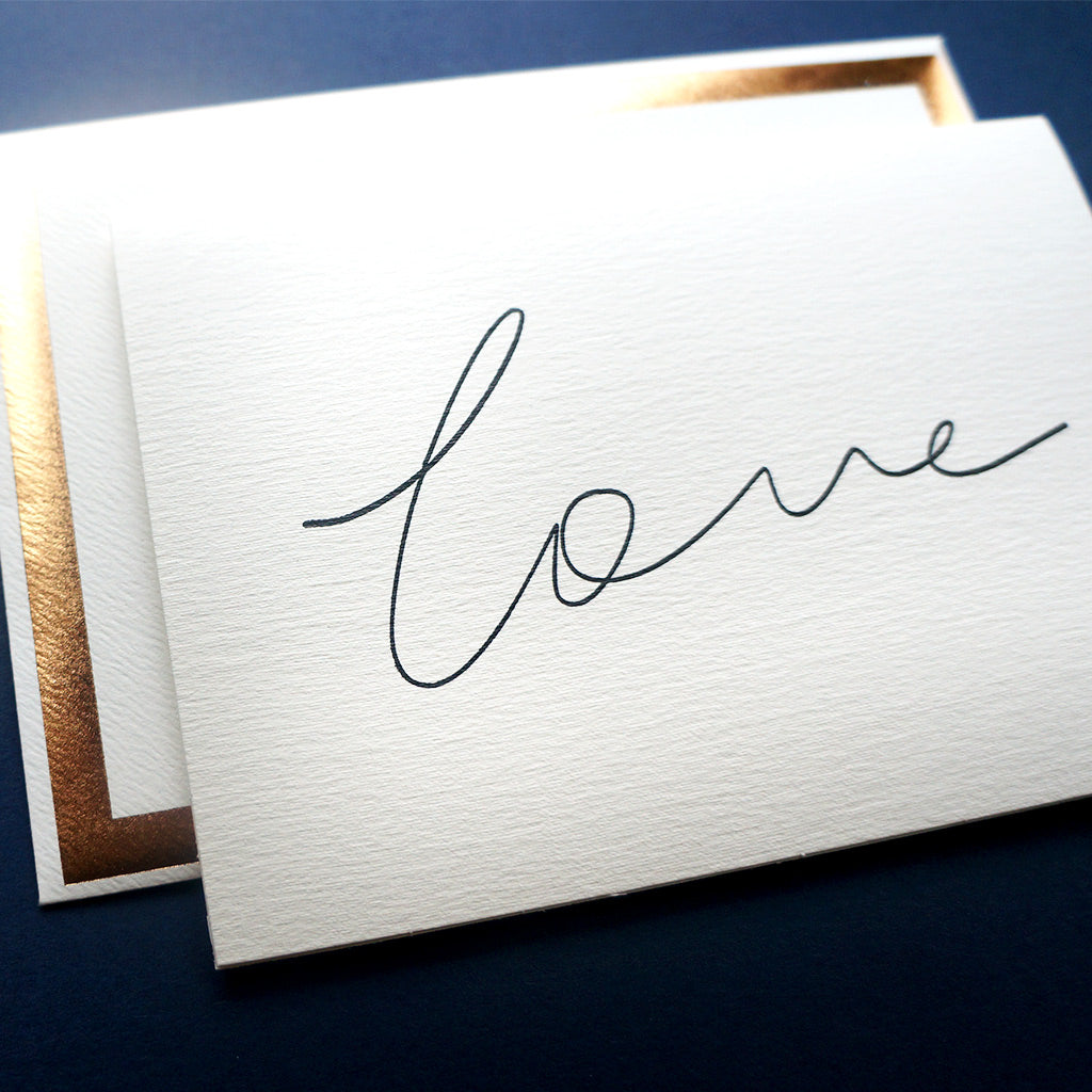 Luxury handwritten love card | Katie Leamon