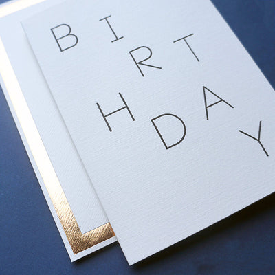 Luxury typography birthday card for him
