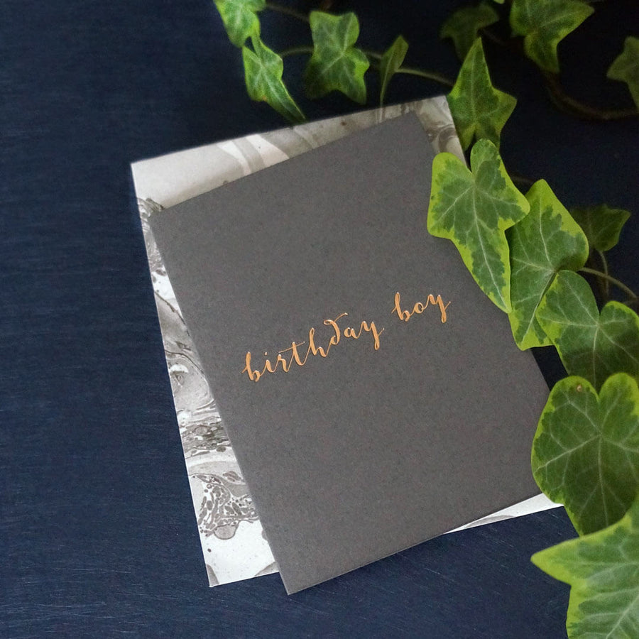 Luxury birthday card for him | Katie Leamon