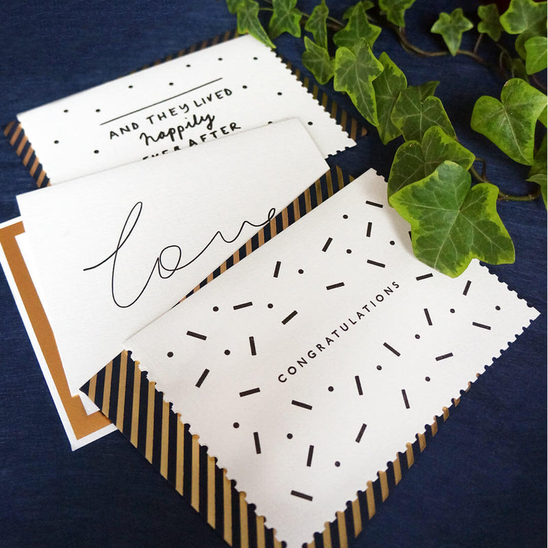 Luxury wedding card | Katie Leamon